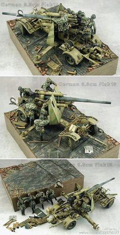 German 88 in action - Scale Models Mg34, Modern Toys, Military Armor, Model Tanks, Model Hobbies, Military Modelling, Military Diorama, Ww2 Tanks, Panzer