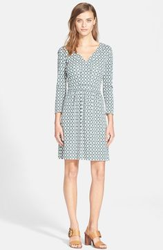 Tory Burch Print Knit A-Line Dress