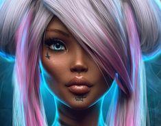 Max Twain on Behance Digital Art Anime, Digital Art Girl, Digital Portrait, Anime Art, Diviant Art, Artist Art, Black Girl Art, Black Women Art, Amazing Drawings