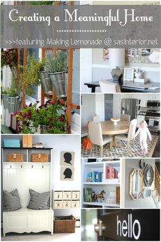 Creating a Meaningful Home Blog Series-- see how Carrie from Making Lemonade creates a meaningful home over at SAS Interiors! (hint... check out her walls...)