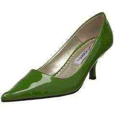 Necessary office attire, green pumps