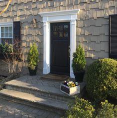 Ekena Millwork 8 in. x 96 in. Double Raised Panel Pilaster - The Home Depot Front Door Molding, Front Door Trims, Front Door Steps, Front Door Decor, Front Porch, Front Walkway, Front Deck, Side Door, Exterior Door Trim