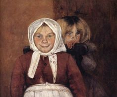Vinnar's brother and sister, 1898 - by Hugo Simberg - Finnish St John's Church, Amber Tree, Drawing School, Boy Fishing, Different Kinds Of Art, Beauty In Art, Female Art, Art Pictures, Watercolor Art