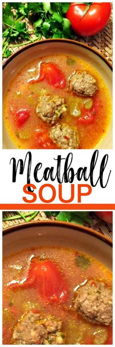 Meatball Soup Recipe - comforting and low carb too! #easy #meatball #soup #recipe #soups #recipes #dinneridea