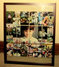 Photo Collage Mosaic Framed