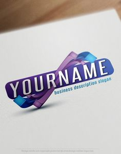 3D Online Abstract Logos