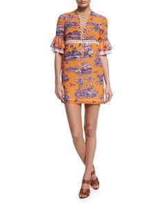 2018 Sale Online Countdown Package Online Just Cavalli Woman Pleated Leopard-print Cotton Mini Dress Black Size 40 Just Cavalli Explore Online iymx8
