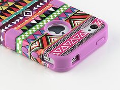 3-Piece Tribal Pattern High Impact Hard Case Cover For iPhone 4 4S 4G + Stylus | eBay