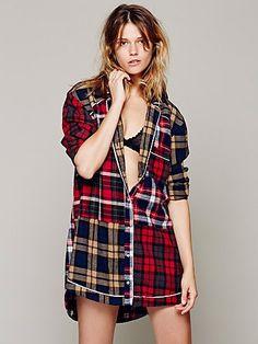 plaid sleep shirt... i need this for fall