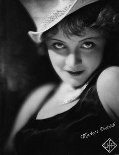 Marlene Dietrich [Blue Angel close-up] by Unidentified Artist. Gelatin silver print, 1929-1930. Deutsche Kinemathek - Marlene Dietrich Collection Berlin.