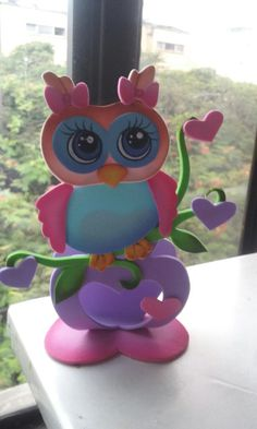 23 Easy Paper Quilling Ideas For Kids Foam Crafts, Diy And Crafts, Crafts For Kids, Arts And Crafts, Polymer Clay Owl, Owl Birthday Parties, Quilling Animals, Diy Y Manualidades, Heart Balloons