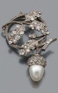 rubies.work/… Diamond and oearl brooch