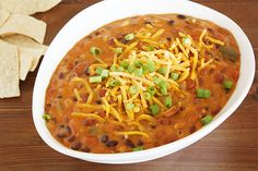 Slow Cooker Vegetarian Chili Con Queso. Made this on the stovetop and it is delicious
