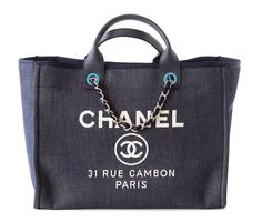 CHANEL bag DEAUVILLE tote 2015 NAVY Leather top Handle SOLD OUT #CHANEL #TotesShoppers  available mightykismet ebay