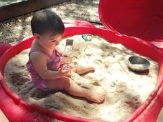 Smart Sandboxing: 3 Simple Items To Make Sand Play a Little Easier: wet sand, cinnamon to deter bugs, baby powder for clean up.