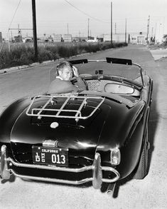 Steve McQueen was lent an AC Cobra in 1963 by Carroll Shelby himself, it's fairly clear he had a great time in the British/American Ferrari. Ac Cobra, Bobber, Carroll Shelby, Sundance Kid, Rat Rods, Steeve Mac Queen, Harley Davidson, Steven Mcqueen, E Type