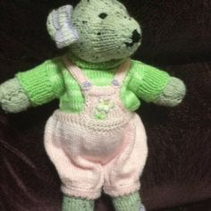 Rita Wilson added a photo of their purchase Teddy Bear Knitting Pattern, Knitted Teddy Bear, Teddy Bear Toys, Knitting Patterns, Teddy Bears, Swatch, Simple Embroidery, Embroidery Stitches, Mary Janes