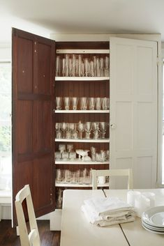 glass cabinet.