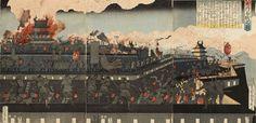 歌川貞秀「大内合戦之図」