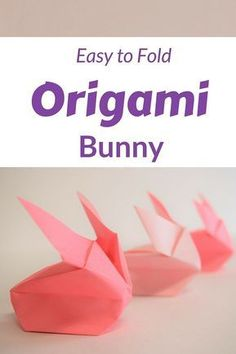 How to Make an Origami Rabbit Easy for easter with a video tutorial and step by step instructions. #easter #origami #videotutorial #kidscraft #papercrafting #OrigamiLife