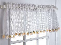 cortinas de croche para cozinha com graficos - Pesquisa Google
