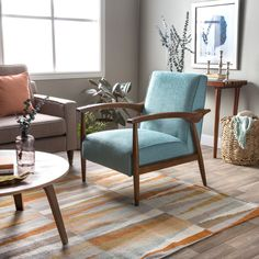 Gracie Aqua Retro Arm Chair - 15907564 - Overstock.com Shopping - Great Deals on I Love Living Living Room Chairs