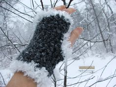 Crochet Hand Warmers Fingerless Gloves Texting Gloves by BeadGs, $20.00