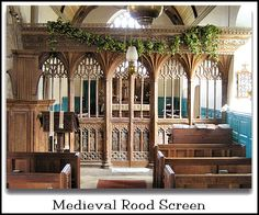 Medieval Rood Screen, Dartmoor - to combine with Mediterranean style with focus on light entering through paneled windows