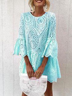 Label Size Bust Length Waist Sleeve cm inch cm inch cm inch cm inch S 90 85 84 49 M 95 86 89 L 100 39 87 94 XL 105 88 99 Sleeve Type:Frill Sleeve Material:Polyester Style:Sweet,Casual,Elegant Theme:Summer Color:Wh Chic Dress, Boho Dress, Fancy Dress, Plus Size Dresses, Dresses For Sale, Dresses Online, Vacation Dresses, Summer Dresses, Formal Dresses