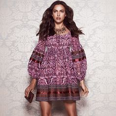 For Her: Embroidered Trim Dress @bebe