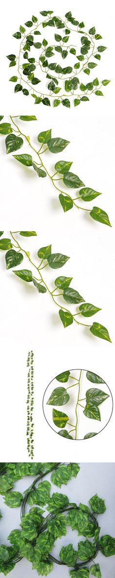 2016 New Delightful Natural Artificial Ivy Leaves Garland Foliage 2M Long Home Decor Wedding Party Decoration