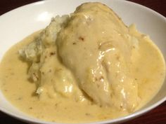Chicken With Camembert Sauce |