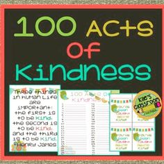 Encourage #kindness this #November with 100 #ActsOfKindness from @kilesclassroom on #TpT. #linkinprofile #classroomfun #teachkindness #iteach