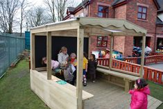 https://flic.kr/p/9pyeUU | outdoor classroom wooden shelter canopy  kew kew 37 | Outside classroom by Pendlewood.com.