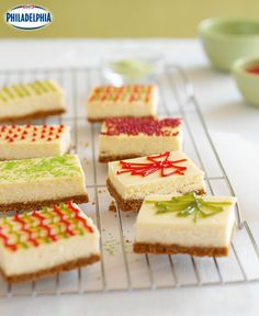 Unwrap these sweet morsels this holiday season: silky cheesecake and a graham cracker crust makes these the perfect gift! #recipe