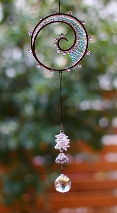 Bijoux Wire Wrap, Wire Wrapped Jewelry, Beaded Jewelry, Wire Crafts, Bead Crafts, Jewelry Crafts, Copper Wire Art, Wire Art Sculpture, Dream Catcher Craft