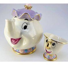 NEW Beauty and The Beast Mrs. Potts Chip Tea Pot & Cup set Teapot Mug ( Pot & Cup)