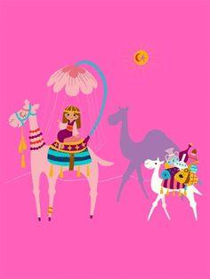 """Oopsy daisy, Fine Art for Kids presents Disney® """"It's a Small World - Camel Caravan"""" kids wall art $119"""