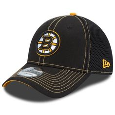 new styles ac5dc 84da8 Men s Boston Bruins New Era Black NHL Crux Line Neo 39THIRTY Flex Hat, Your  Price