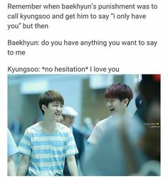 No one can ever dare say Kyungsoo has no emotions for EXO he loves them with all his heart😭❤❤ Exo Ot12, Kaisoo, Chanbaek, Kyungsoo, Chanyeol, K Pop, Kpop Memes, Funny Memes, Exo For Life