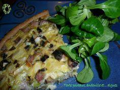 Tarte aux poireaux, andouille et... algues