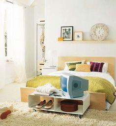 Una habitación sin mucho espacio, pero con todo lo necesario http://ideasparadecoracion.com/una-habitacion-sin-mucho-espacio-pero-con-todo-lo-necesario/