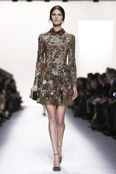 Valentino Ready To Wear Fall Winter 2014 Paris...Gorgeous love the fabric & silhouette. Imagine this in your wedding colors. Adjust the sleeves & length. Ask your seamstress for fabric suggestions that fit your budget.