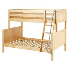 With classic bunk styling and a smooth slide, the Smile Twin over Twin Panel Bunk Bed appeals to kids' playful natures. And with complete safety. Bunk Beds With Drawers, Bunk Bed With Trundle, Bunk Beds With Stairs, Full Bunk Beds, Kids Bunk Beds, Bed Shelves, Bunk Bed Designs, Murphy Bed Plans, Under Bed