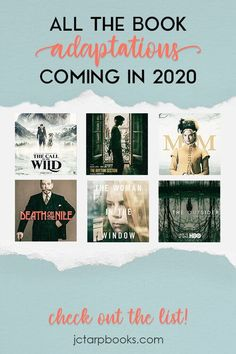 Book Adaptations Coming in 2020 — JC Tarp Books & Editing Reading Lists, Book Lists, I Love Books, Books To Read, Book Club Books, The Book, Death On The Nile, In Theaters Now, Writing A Book