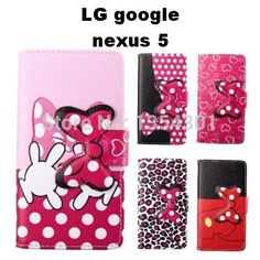 Cheap bow time, Buy Quality bow blouse directly from China bow chic Suppliers:  Product Description:Cute PU Leather Skin Flip Stand Bow Case For LG google nexus 5 Phone Shell Pouch Wa