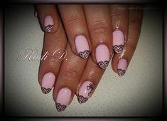 Baby pink almond nails with lace by RadiD - Nail Art Gallery nailartgallery.nailsmag.com by Nails Magazine www.nailsmag.com #nailart