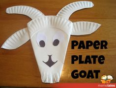 "Paper Plate Goat-will use with ""Three Billy Goats Gruff"""