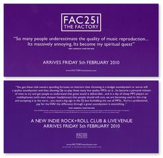 FAC251 The Factory: Launch Flyer [Tony Andrews]