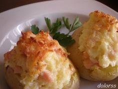 Blog de cuina de la dolorss: Patatas rellenas con beicon